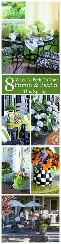 8 WAYS TO PERK UP YOUR PORCH AND PATIO THIS SPRING-Great ideas to do now to enjoy your outdoor living space