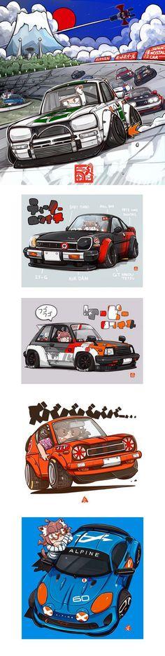 to San Mamiya! Shoutout to San Mamiya!Shoutout to San Mamiya! Auto Illustration, Bd Art, Supercars, Car Posters, Car Drawings, Automotive Art, Art Graphique, Japanese Cars, Disney Cars