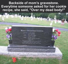 Someone saw in cemetery & said they copied the recipe down and are calling them Tombstone cookies.