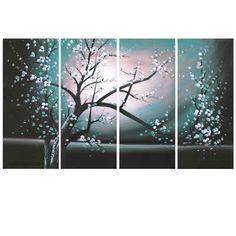 Emeraud Tree Bliss Canvas Wall Art Print