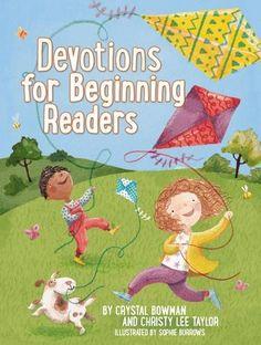 Devotions for Beginning Readers by Crystal Bowman http://www.amazon.com/dp/0529104016/ref=cm_sw_r_pi_dp_OInexb0HYJ2FG
