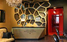 Interior of hair salon www.blackouthair.fi #hairsalon #hairstudio #hairdressing