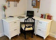 Beautiful Custom Made Corner Desk! I WANT one for my Sewing  Desk! jwt