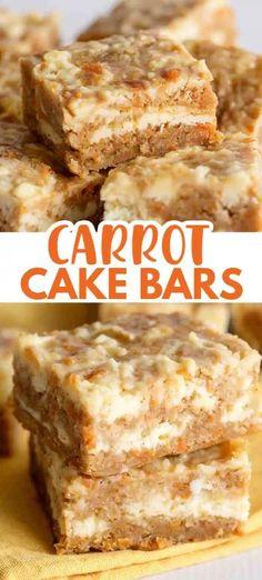13 Desserts, Easy Easter Desserts, Easter Recipes, Delicious Desserts, Easter Food, Carrot Cake Bars, Carrot Cake Cheesecake, Carrot Cake Cookies, Bon Dessert