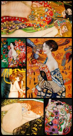 One of the most common themes Gustav Klimt used was that of the dominant woman, the femme fatale.  overstockArt.com