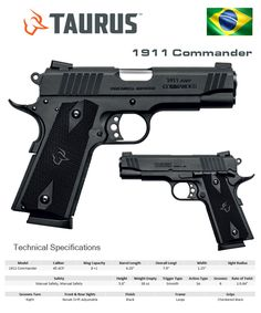 Taurus - 1911 Commander 1911 Pistol, Colt 1911, Revolver, Taurus, Weapon Concept Art, Military Guns, Cool Guns, Guns And Ammo, Tactical Gear