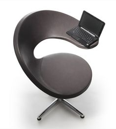 Italian company Rossin designed this cool netbook lounge armchair with modern technology in mind.