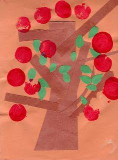 Preschool Crafts for Kids*: Easy Apple Tree Paper Craft