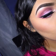 I love this pink eye shadow ❣ Makeup Is Life, How To Do Makeup, Cute Makeup, Makeup Goals, Pretty Makeup, Makeup Inspo, Makeup Inspiration, Makeup Tips, Hair Makeup