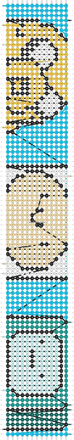 Adventure time friendship bracelet pattern number #8280 - For more patterns and tutorials visit our web or the app!