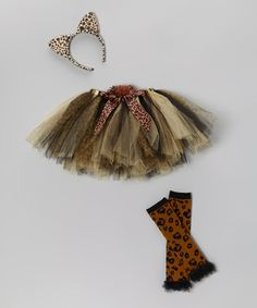 Take a look at this Brown Leopard Tutu Set - Toddler & Girls by Just Pretend on #zulily today!