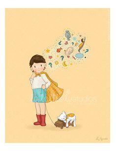 Children's Wall Art Print - Toddler - 8 x 11