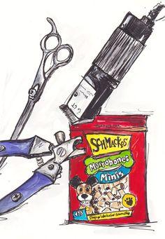 Dog clipping time... http://traceyfletcherking.blogspot.com.au/