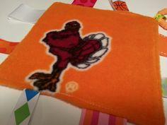 Virginia Tech Hokies Baby Girl Fleece Lovie Tag by tbllovies, $6.50