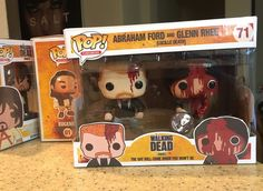 Custom Funko Funko Pop! Walking Dead Glenn And Abraham Two Pack ! 5/5 Piece !