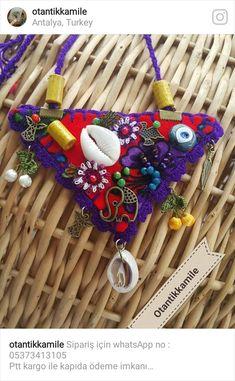 Fiber Art Jewelry, Mixed Media Jewelry, Textile Jewelry, Fabric Jewelry, Tribal Jewelry, Jewelry Art, Jewellery, Bead Crafts, Jewelry Crafts