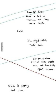 Math tells us the saddest of love stories.. And asymptotes, that will get closer and closer but never be together