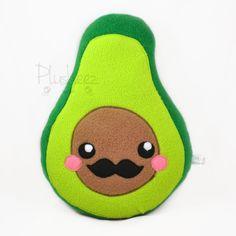 Señor Avocado plush toy / pillow by Plusheez on Etsy