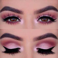 Inspiração de Make Rosa com delineado, bem delicada! <3 Produtinhos para reproduzir essa make você encontra em www.shopbela.com.br