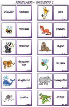 7 dominospel med djur