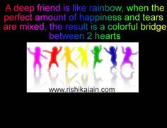 All friendships are colorful with characters