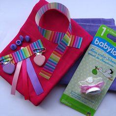 KIT naissance - 2 langes + attache tétine - DIY : Kits, tutoriels Couture par pikebou -10%