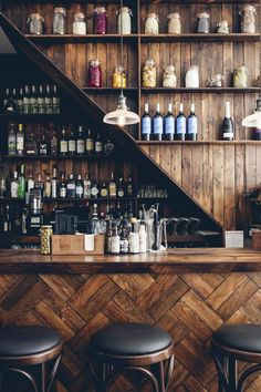 I like the visual effect for small bar area and the backing could easily be papered with the Tartan print..