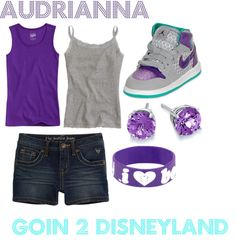 """AUDRIANNA GOIN 2 DISNEYLAND"" by naiyell ❤ liked on Polyvore"