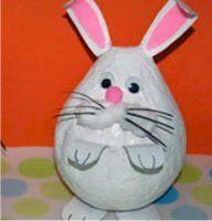 papier mache konijn