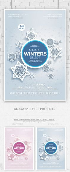 Winter Sound Party Flyer Template PSD #design Download: http://graphicriver.net/item/winter-sound-party-flyer-template/9589421?ref=ksioks