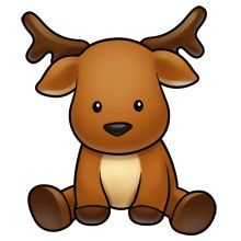 Christmas Reindeer Cutest Pictures Logo Baby Rudolph Animal