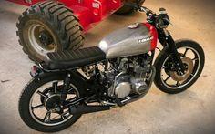 Kawasaki Z650 Brat Style by MVill #motorcycles #bratstyle #motos | caferacerpasion.com