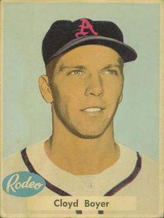 1955 Rodeo Meats Kansas City Athletics #6 Cloyd Boyer  Front