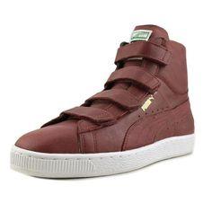 0c913bf116e844 Puma Suede Mid V Leather Men US 8 Burgundy Tennis Shoe