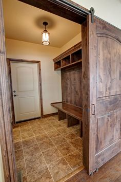 Mudroom Track Door I Jayden Homes