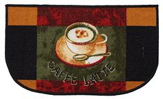 "J & M Home Fashions Print Kitchen Mat/Rug, Cafe Latte, 18"" by 30"" Price: $7.99 #arearugs #homedecor Check more at http://www.imarthome.com/product/j-m-home-fashions-print-kitchen-matrug-cafe-latte-18-by-30/"