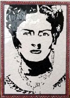 Frida en mosaico tecnica trencadis