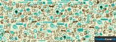 Cute Doodles Cartoon Pattern Facebook Cover Timeline Banner For Fb14 Facebook Cover