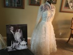 1957 Gown ordered from JC Penny's.