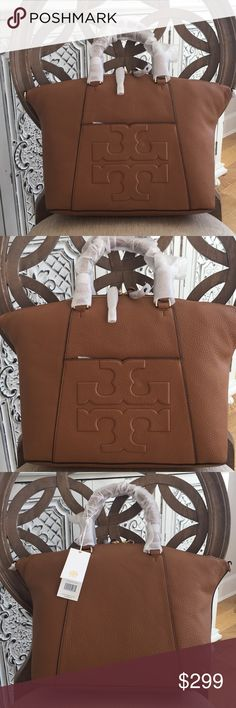 9bcfd950f0d5 Tory burch bombe t Medium slouchy satchel bark Brand new with tags. Small  blemish on