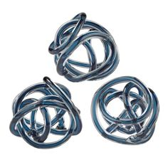 Navy Blue Glass Knot-Set of This fun handmade glass knot can stand alone, in multiples or repeat around other decorative elements. Endlessly twining and flawless, the glass knot engages the eye and enchants the mind. Home Decor Accessories, Decorative Accessories, Contemporary Decorative Objects, Elk Lighting, Metal Walls, A Table, Decorative Pillows, Decorative Glass, Decorative Knots