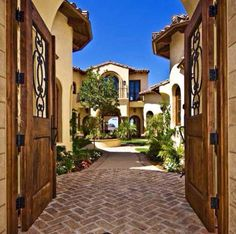 Like gate into open courtyard.