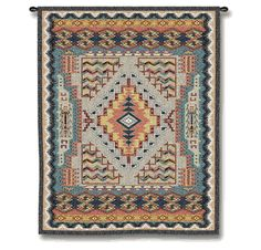 Southwest Turquoise Tapestry Wall Hanging - Small