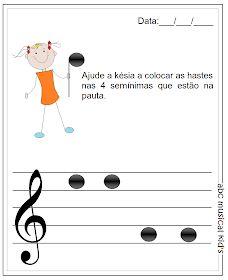Abc Musical Kid's : Atividades de Musicalização Infantil Abc For Kids, Music For Kids, Music Class, Music Education, Piano Classes, Music Worksheets, Easy Piano, Music Activities, Teaching Music