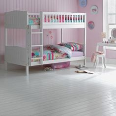 Buy Rosa Single Curved Bunk Bed Frame - White at Argos.co.uk - Your Online Shop for Children's beds, Children's beds.
