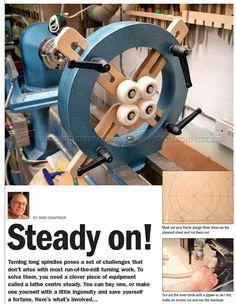 Wood Lathe Steady Rest Plans - Lathe