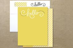 Here comes Sunshine personalized stationery from Minted