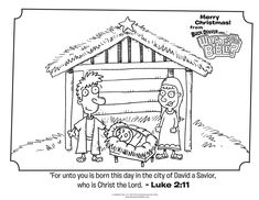 Luke 2:11 Christmas Coloring Page - Whats in the Bible