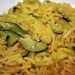 recette Riz pilaf au curry et aux courgettes