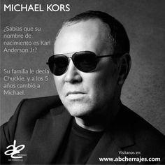 Diseñador Norteamericano cuyas colecciones empezaron desde el año 1981 #ABCherrajes #Diseñadores #MichaelKors